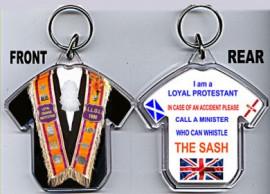 Loyalist T-Shirt Key-Ring / LADIES  Orange Collarette