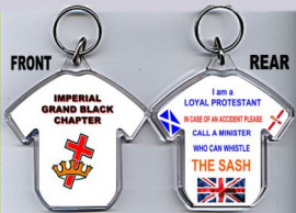 Loyalist T-Shirt Key-Ring/Imperial Grand Black Chapter-Red Cross