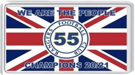 Rangers 55 Champions  Fridge Magnet