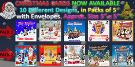 CHRISTMAS CARDS with envelopes 10 different designs